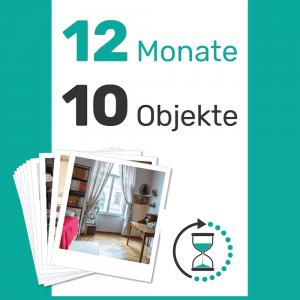 10 Objekte für 1 Jahr